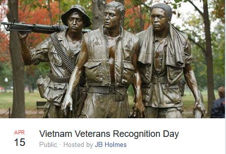 April 15 – Vietnam Veterans Day Celebration